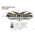 Heartland Road Warrior 2009 Side Logo (Single Part)