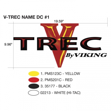 Viking V-Trec 2010 V-Trec Name (Single Piece)