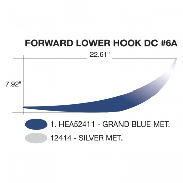 Heartland Edge 2011 Forward Lower Hook Blue (Right and Left Hand)