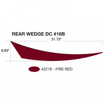 Heartland Edge 2011 Rear Wedge Red (Right and Left Hand)