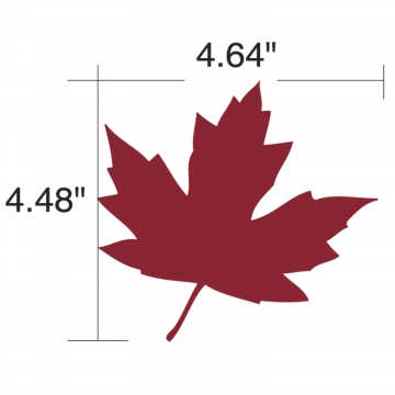 Triple E Roughneck 2012 Set of 5 Small Maple Leaves