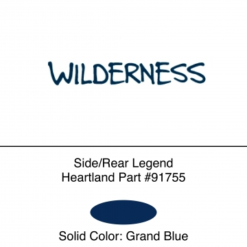 Heartland 2012 Wilderness  -Side/Rear Legend EACH (56S)