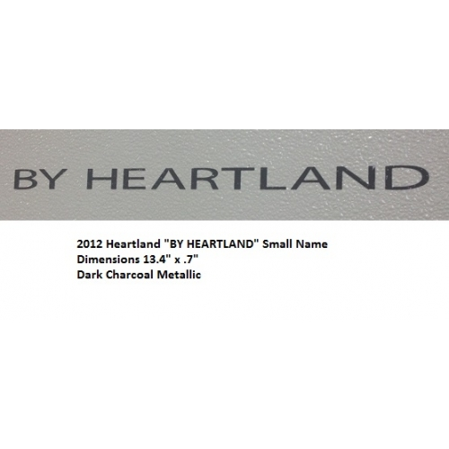 "Heartland 2012 - ""BY HEARTLAND"" Small Name 60N"