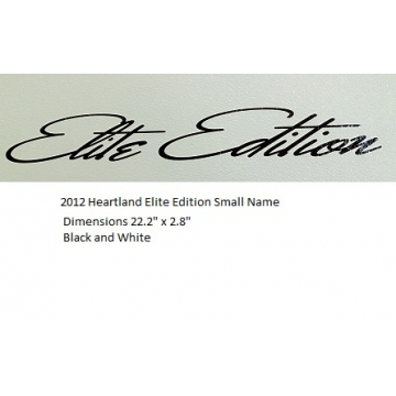 Heartland 2012 Elite Edition - Small Name