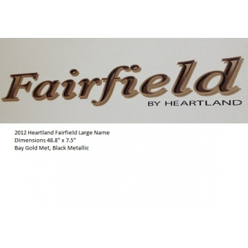Heartland 2012 Fairfield - Large Name