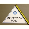 Inspection Point Metal Safety Signs